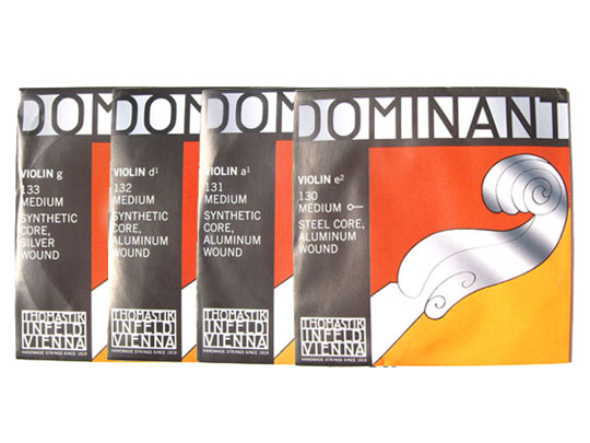 バイオリン弦 ドミナント ランキングTOP5 EADG線セット 男女兼用 E線:No.130 スチール アルミ巻 Dominant 4 smtb-KD THOMASTIK トマスティック社 ボールエンド