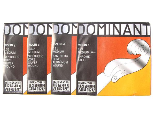 大規模セール バイオリン弦 ドミナント EADG線セット E線:No.129 D線:No.132A Dominant THOMASTIK 4 トレンド smtb-KD トマスティック社