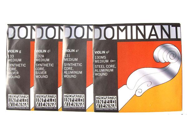 バイオリン弦 ドミナント 期間限定送料無料 EADG線セット E線:No.130MS D線:No.132A 4 トマスティック社 Dominant smtb-KD 最新号掲載アイテム THOMASTIK