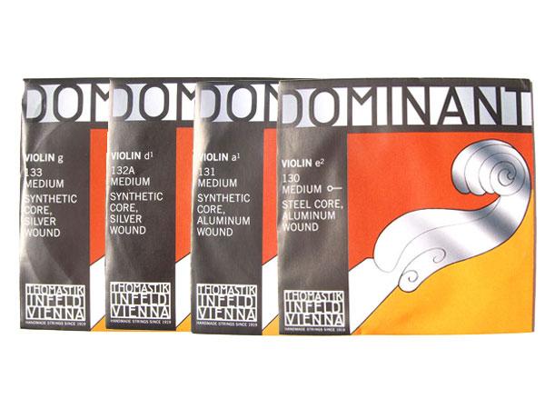 バイオリン弦 ドミナント EADG線セット E線:No.130 D線:No.132A 4 正規品送料無料 トマスティック社 未使用品 smtb-KD Dominant THOMASTIK