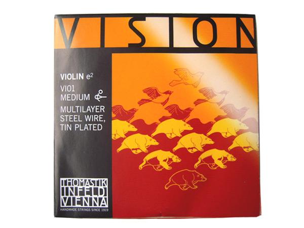 Thomastik Vision VI01 1 10サイズ E線 優先配送 スズメッキマルチレイヤー smtb-kd スチールワイヤー ヴィジョン バイオリン弦 2020新作 ビジョン