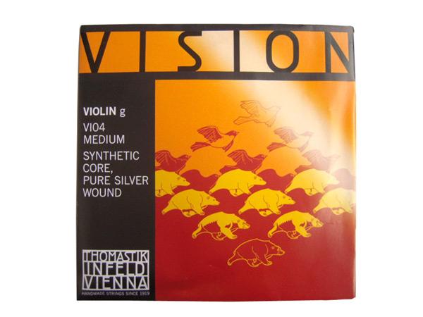 Thomastik Vision VI04 4 4サイズ 好評受付中 G線 smtb-kd シルバー巻 ビジョン ヴィジョン バイオリン弦 内祝い シンセティックコア