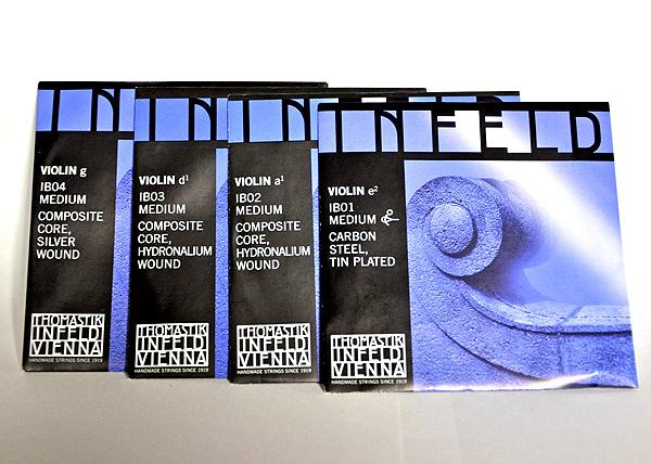 バイオリン弦 販売期間 限定のお得なタイムセール Thomastik INFELD BLUE EADGセット 贈呈 IB01,IB02,IB03,IB04 ブルー 4用 トマスティーク社 インフェルド 4