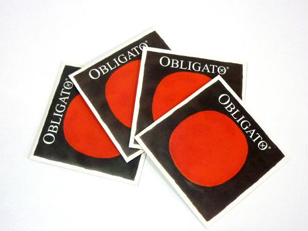 バイオリン弦 PIRASTRO OBLIGATO EADG線セット E3137ボール,A4112,AD4113,G4114 オブリガート 8サイズ用 訳あり品送料無料 新作通販 1 ピラストロ 4