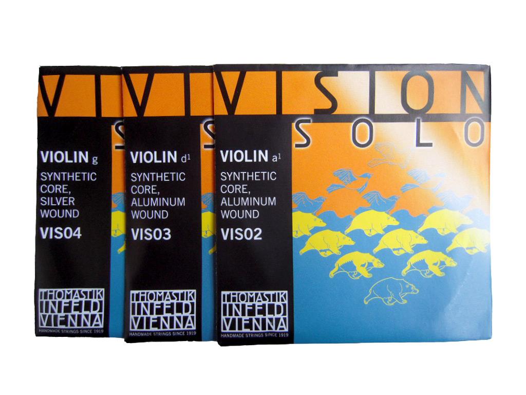 Thomastik Vision SOLO 正規激安 ADG弦セット 保証 VIS02,VIS03,VIS04 4 バイオリン弦セット ヴィジョン トマスティック smtb-kd 4サイズ ソロ