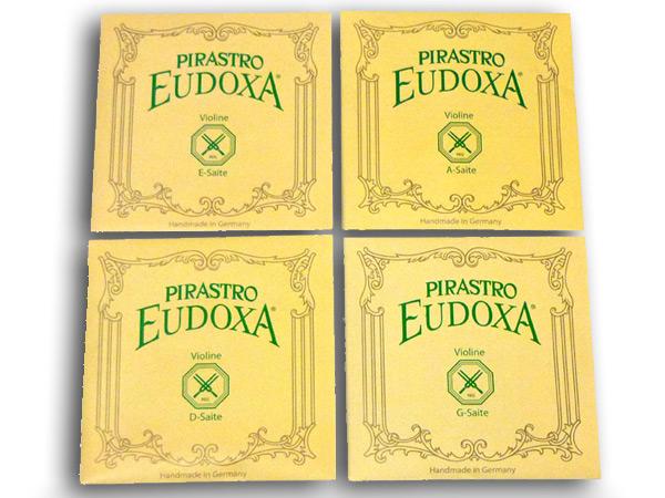 バイオリン弦セット PIRASTRO EUDOXA EADGセット(E3147ボールエンド,A2142,D2143,G2144) 3/4+1/2 ピラストロ オイドクサ