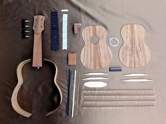 【ラッピング無料!】HOSCO ソプラノウクレレ組立キット UK-KIT-6K コア単板 楽器組み立てキット ホスコ【楽ギフ_包装選択】【smtb-kd】【P3】