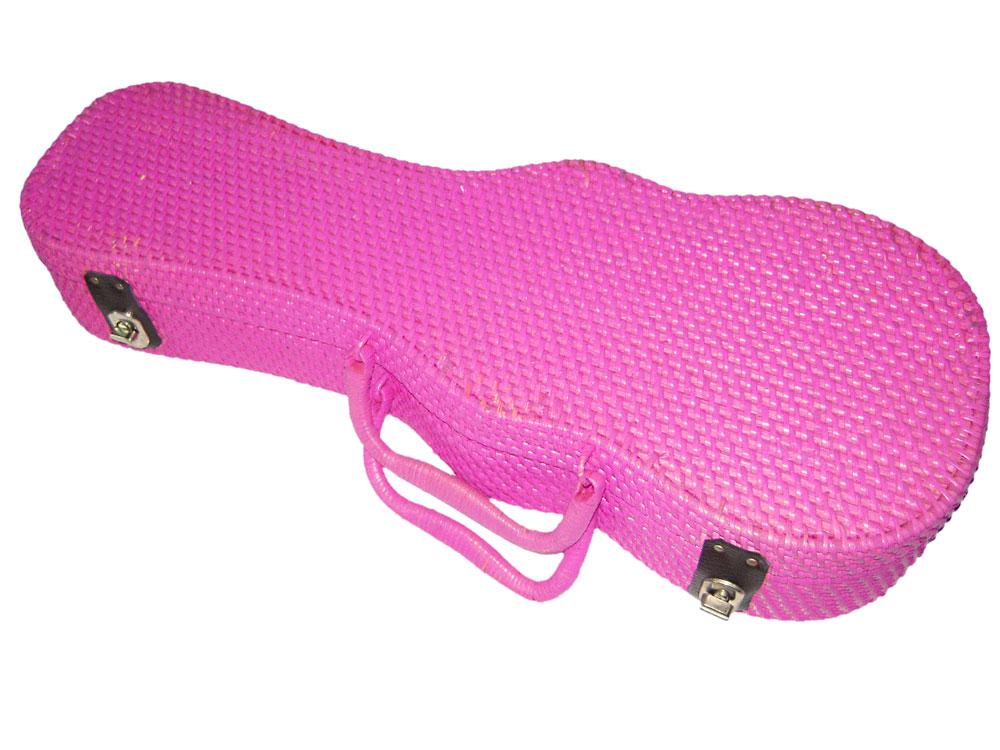 【あす楽対応】Lahaina LC-RUC170PK ピンク コンサートウクレレ用ケース ラタン素材 ラハイナ【smtb-KD】【P5】