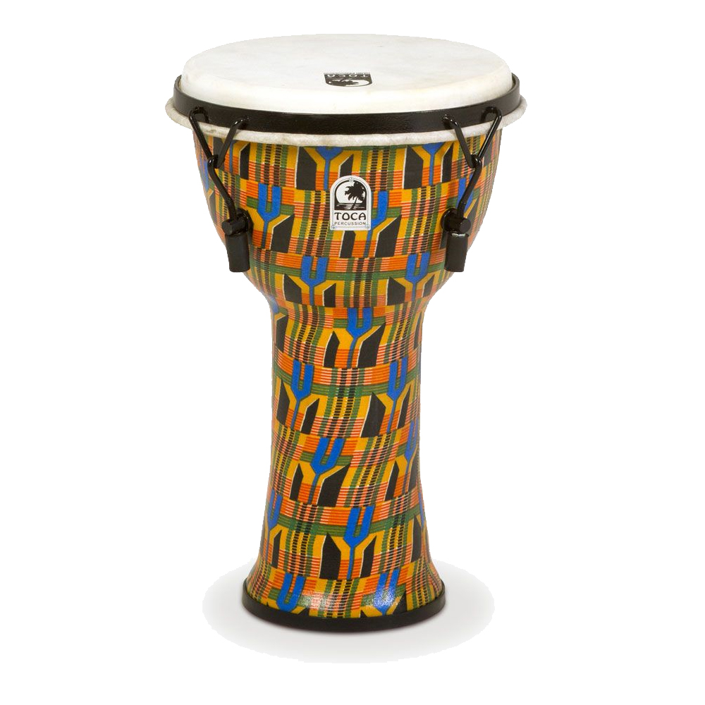 TOCA Toca Products Djembes SFDMX-9K Freestyle Mechanically Tuned Djembe 9inch, Kente Cloth ジャンベ 9インチ Percussion パーカッション SFDMX9K【smtb-KD】【P2】