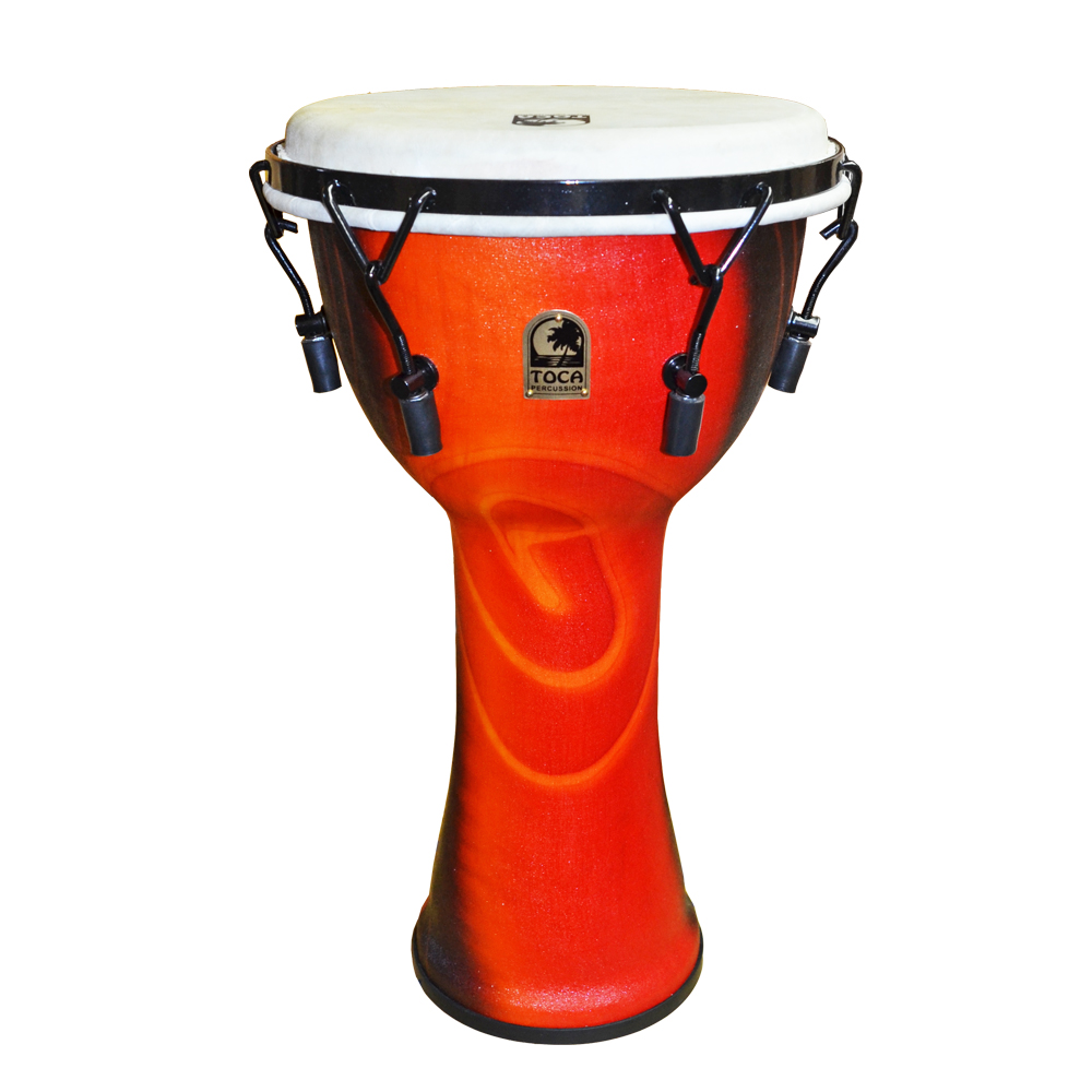 TOCA Toca Products Djembes SFDMX-10F Freestyle Mechanically Tuned Djembe 10inch, Fiesta Red ジャンベ 10インチ レッド Percussion パーカッション SFDMX10F【smtb-KD】【P2】
