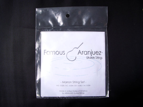 【ポスト投函】Famous ARANJUEZ Marron (フェイマス アランフェス) ウクレレ弦セット×24セット