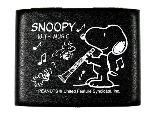スヌーピーがデザインされた可愛いリードケース SNOOPY with Music 別倉庫からの配送 SCL-05 ディスカウント ブラック スヌーピーバンドコレクション 5枚収納 B♭クラリネット用リードケース SCL05 smtb-KD