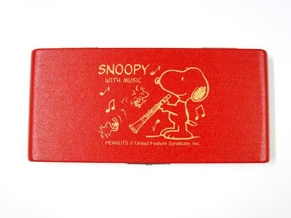 スヌーピーがデザインされた可愛いリードケース SNOOPY with Music 商い SCL-10R レッド smtb-KD ☆正規品新品未使用品 B♭クラリネット用リードケース SCL10R 10枚収納 スヌーピーバンドコレクション