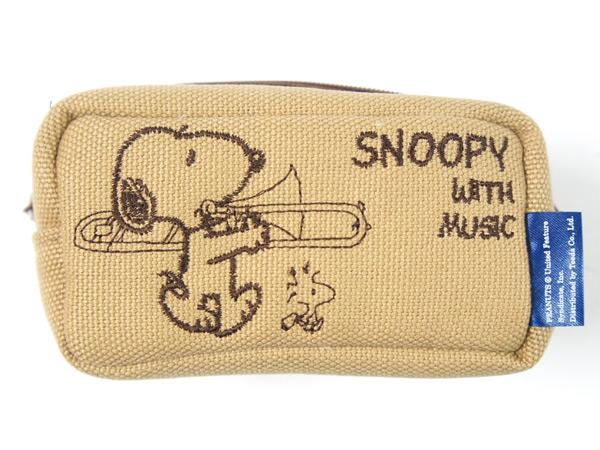 スヌーピーの可愛いマウスピース用ポーチ 祝日 SNOOPY with Music SMP-TBBG トロンボーン マウスピースポーチ COLLECTION 買取 BAND スヌーピーバンドコレクション P2