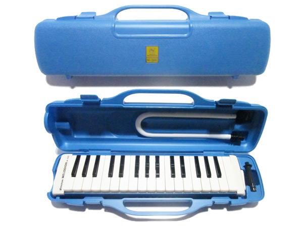 人気の定番 貼ってはがせるドレミシール付き あす楽対応 SUZUKI M-32C 完全送料無料 どれみシール付 ブルー 鍵盤ハーモニカ スズキ楽器 アルトメロディオン smtb-KD 鈴木楽器