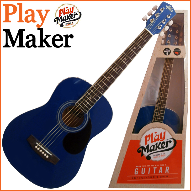 PlayMaker PMSA12BL 1/2 ACOUSTIC GUITAR ミニアコースティックギター プレイメーカー【楽ギフ_包装選択】【smtb-KD】