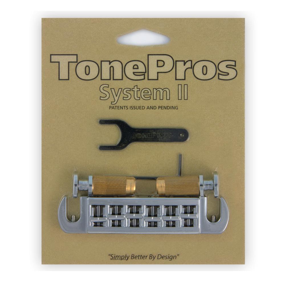 メイルオーダー トーンプロズ TonePros ブリッジ AVT2P-C クローム Wraparound Set Studs PRS w 爆買い送料無料 Locking for smtb-KD SPRS2