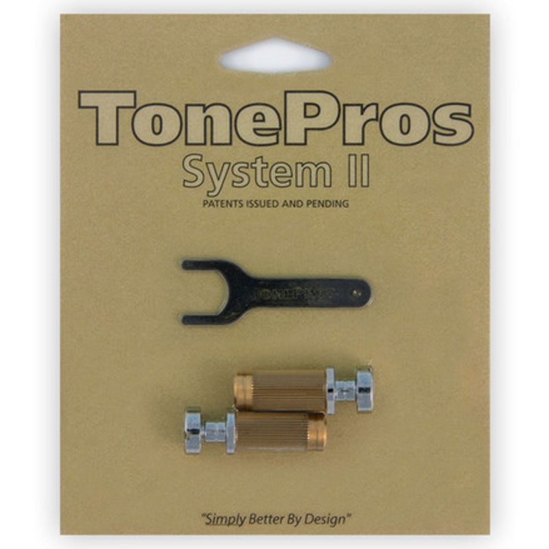 トーンプロズ TonePros ロッキング・スタッド&アンカーセット SS1-C クローム Standard Locking Studs【smtb-KD】