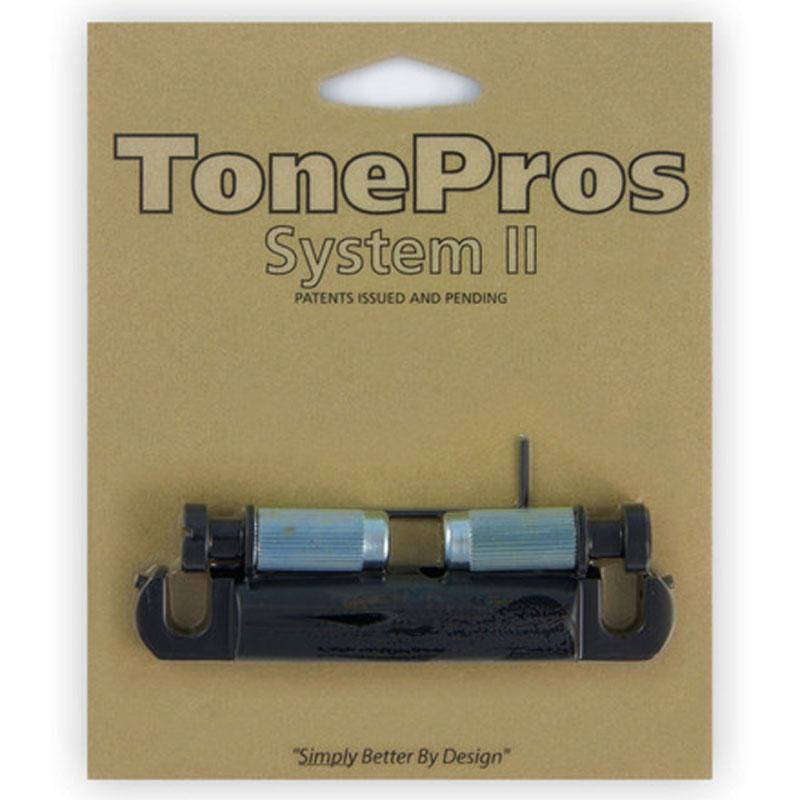 トーンプロズ TonePros エレキギター用テールピース T1ZA-B ブラック Metric Aluminum Tailpiece 日本製、アジア製向き【smtb-KD】