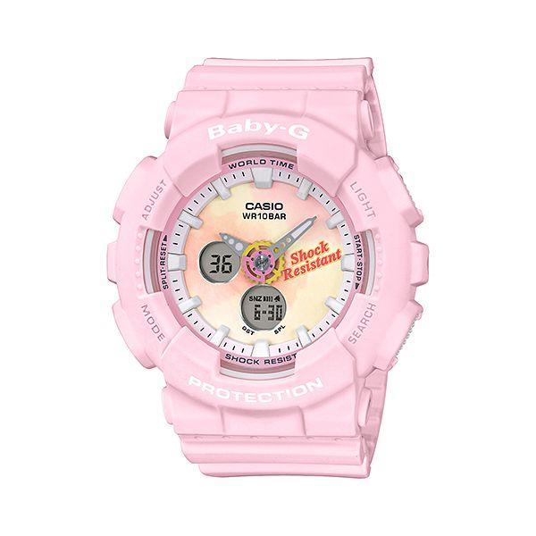 CASIO カシオ Baby-G ベビージー SUMMER GRADATION DIAL サマー・グラデーション・ダイアル ピンク レディース BA-120TG-4AJF 腕時計