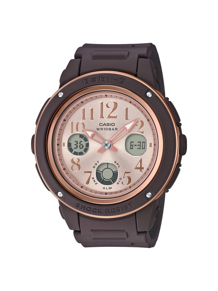 CASIO カシオ BABY-G ベビージー BASIC ベーシック レディース ブラウン ピンク BGA-150PG-5B1JF 腕時計