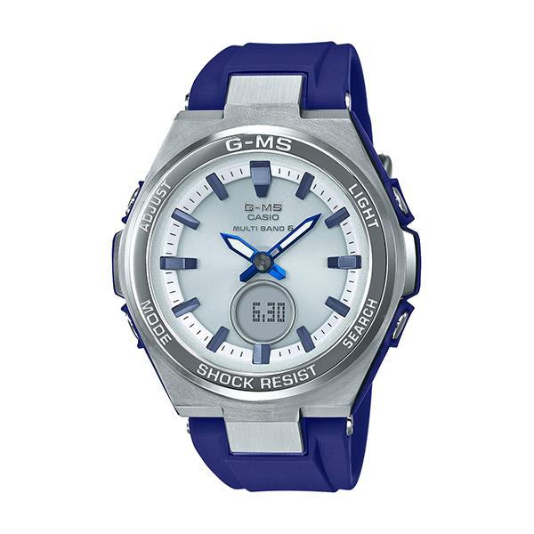 BABY-G ベビージー G-MS ジーミズ レディース シルバー ブルー MSG-W200-2AJF 腕時計