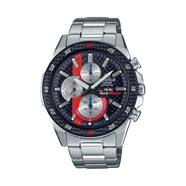 CASIO カシオ EDIFICE エディフィス Scuderia Toro Rosso Limited Edition スクーデリア・トロロッソ・リミテッドエディション メンズ シルバー EFR-S567YTR-2AJR 腕時計