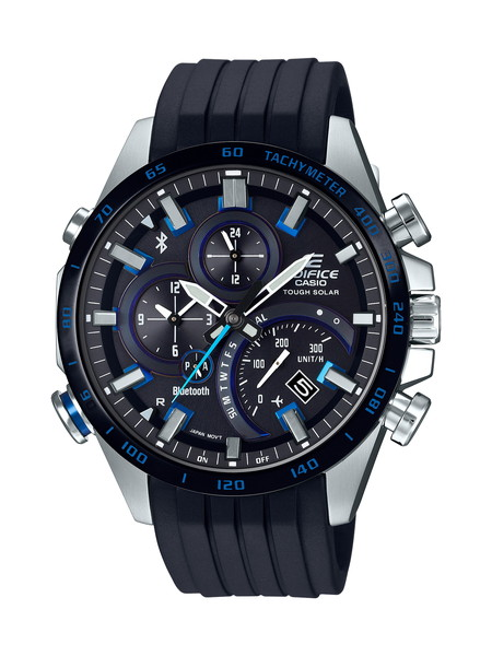 CASIO カシオ EDIFICE エディフィス スマートフォンリンク メンズ シルバー ブラック EQB-501XBR-1AJF 腕時計
