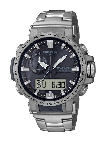 CASIO カシオ PROTREK プロトレック PRW-60 Series クライマーライン メンズ シルバー ブラック PRW-60T-7AJF 腕時計