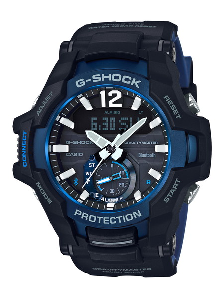 G-SHOCK ジーショック GRAVITYMASTER グラビティマスター メンズ ブラック ブルー GR-B100-1A2JF 腕時計