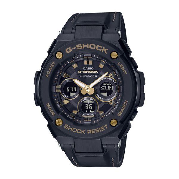 CASIO カシオ G-SHOCK ジーショック G-STEEL ミドルサイズ 電波ソーラー メンズ ブラック GST-W300GL-1AJF