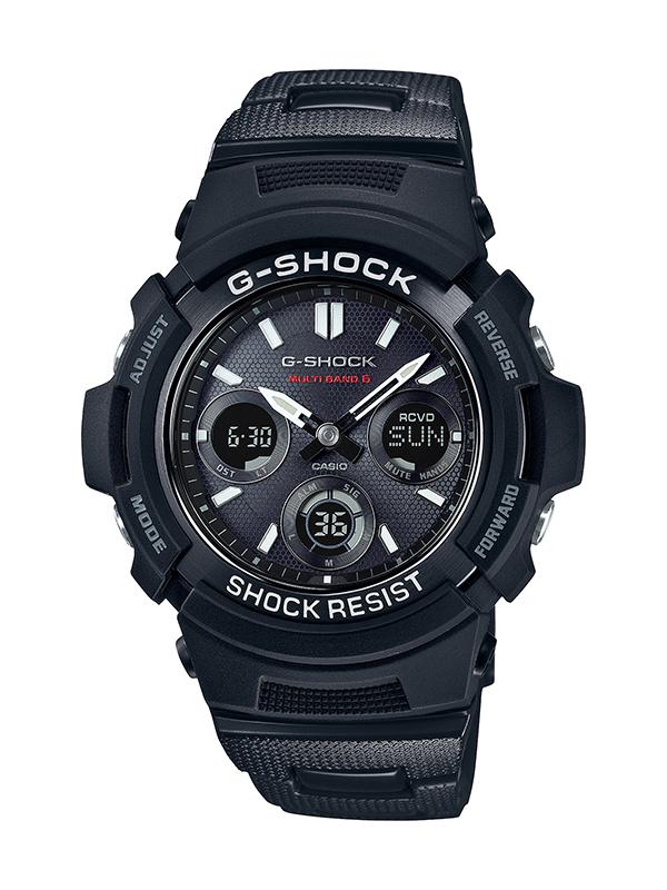 【1,000円OFFクーポン】CASIO カシオ G-SHOCK Gショック BASIC ベーシック ブラック メンズ AWG-M100SBC-1AJF 腕時計