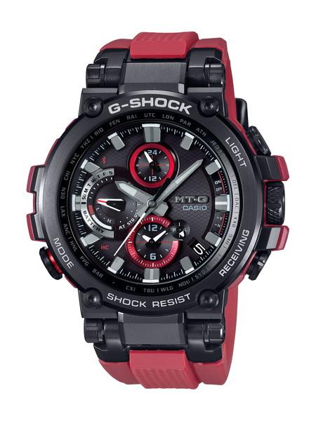 G-SHOCK ジーショック MT-G Bluetooth®搭載 電波ソーラー メンズ ブラック レッド MTG-B1000B-1A4JF 腕時計