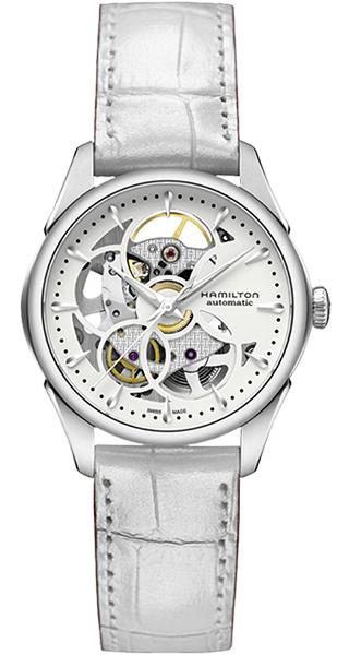 【メーカー取り寄せ】【ノベルティプレゼント】 HAMILTON ハミルトン JAZZMASTER(ジャズマスター) VIEWMATIC SKELETON (ビューマティック スケルトン) LADY AUTO(レディ オート) H32405811 【時計 腕時計】