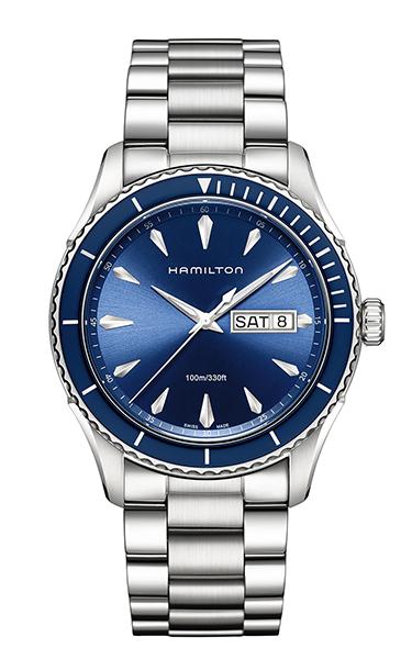 【ノベルティプレゼント】【メーカー取り寄せ】HAMILTON ハミルトン JAZZMASTER(ジャズマスター) SEAVIEW DAY DATE QUARTZ (シービュー デイデイト クオーツ) H37551141 【時計 腕時計】
