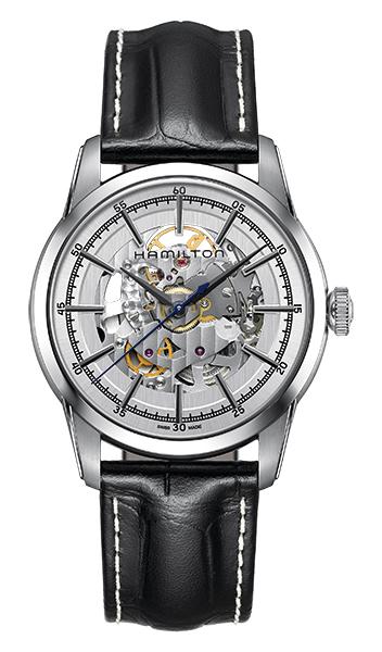 【4,000円OFFクーポン】【ノベルティプレゼント】【メーカー取り寄せ】  HAMILTON ハミルトン AMERICAN CLASSIC (アメリカンクラシック) RAILROAD SKELETON AUTO (レイルロード スケルトン オート) H40655751 【時計 腕時計】