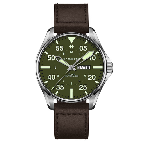 【4,000円OFFクーポン】【ノベルティプレゼント】HAMILTON ハミルトン KHAKI AVIATION カーキ アビエーション Pilot Schott NYC - Limited Edition メンズ H64735561 腕時計