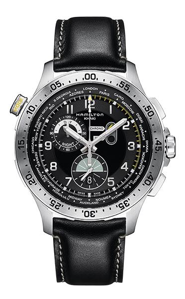 【メーカー取り寄せ】【ノベルティプレゼント】HAMILTON ハミルトン KHAKI AVIATION (カーキ アビエーション) WORLDTIMER CHRONO (ワールドタイマー クロノ) H76714735 【時計 腕時計】