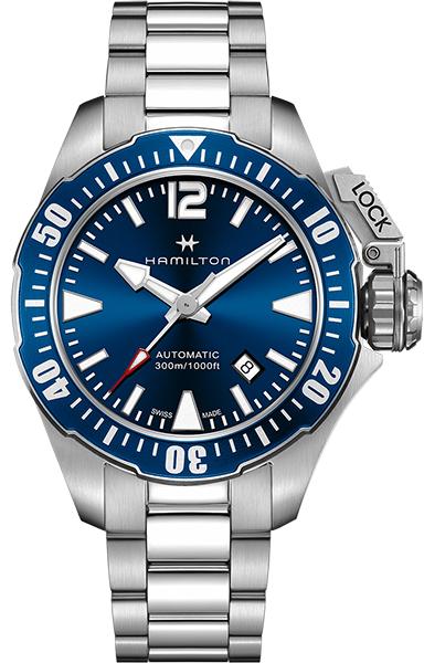 【メーカー取り寄せ】【ノベルティプレゼント】HAMILTON ハミルトン KHAKI NAVY(カーキ ネイビー) OPEN WATER AUTO (オープン ウォーター オート) H77705145 【時計 腕時計】