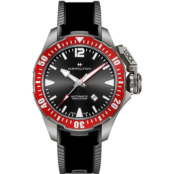 【メーカー取り寄せ】【ノベルティプレゼント】HAMILTON ハミルトン KHAKI NAVY(カーキ ネイビー) OPEN WATER AUTO (オープン ウォーター オート) H77805335 【時計 腕時計】