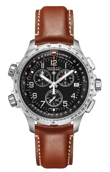 【メーカー取り寄せ】【ノベルティプレゼント】HAMILTON ハミルトン KHAKI AVIATION X-WIND AUTO CHRONO (カーキ アビエーション・Xウィンド・オート クロノ) H77912535 【時計 腕時計】