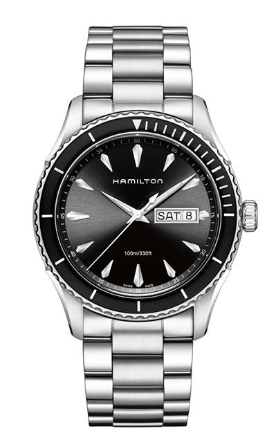 【ノベルティプレゼント】【メーカー取り寄せ】 HAMILTON ハミルトン JAZZMASTER ジャズマスター Seaview Day Date Quartz シービュー デイデイト クオーツ H37511131 【時計 腕時計】