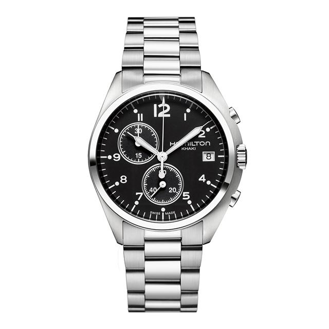 【ノベルティプレゼント】 HAMILTON ハミルトン KHAKI AVIATION (カーキ アビエーション) PILOT PIONEER CHRONO QUARTZ H76512133 【時計 腕時計】