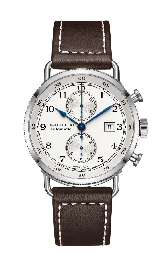 【メーカー取り寄せ】【ノベルティプレゼント】HAMILTON ハミルトン KHAKI NAVY(カーキ ネイビー) PIONEER AUTO CHRONO (パイオニア オート クロノ) H77706553 【時計 腕時計】