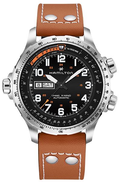 【ノベルティプレゼント】HAMILTON ハミルトン KHAKI AVIATION(カーキ アビエーション) X-WIND DAY DATE AUTO(X-ウィンド デイデイト オート) H77755533 【時計 腕時計】