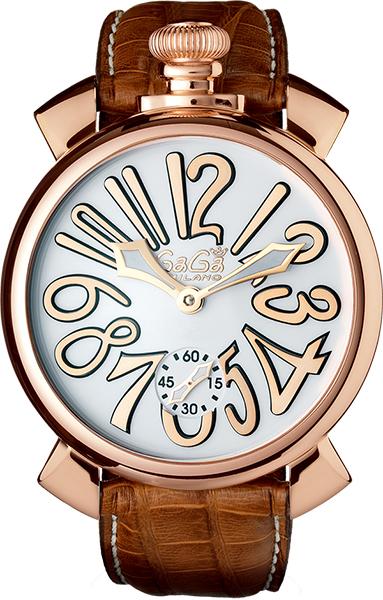4 000円OFFクーポン GaGa MILANOガガミラノ Manuale 48mm Gold Plated マヌアーレ 48ミリ ゴールドプレート 5011 08S 5011 8S5Lj4Aq3R