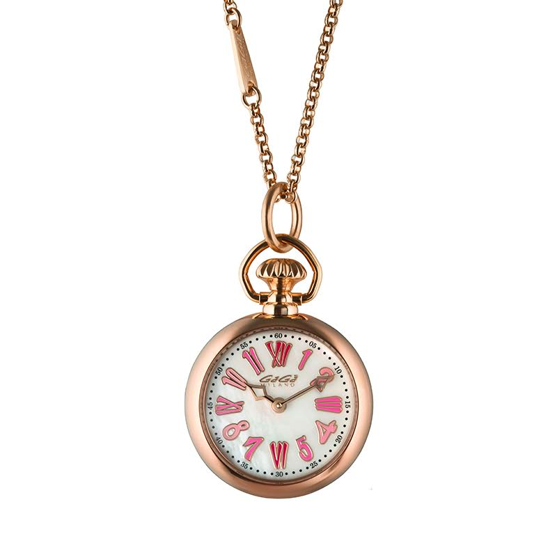 【4,000円OFFクーポン】GaGa MILANO (ガガミラノ) NECKLACE WATCH 31MM ネックレスウォッチ ローズゴールド 7001.01 腕時計