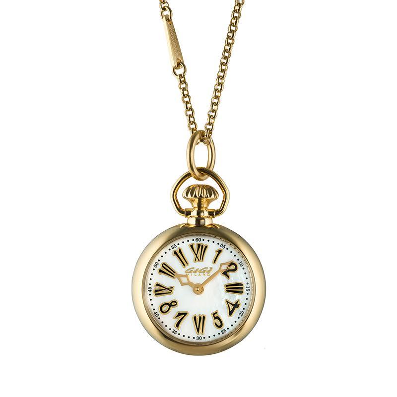 【4,000円OFFクーポン】GaGa MILANO (ガガミラノ) NECKLACE WATCH 31MM ネックレスウォッチ ゴールド 7003.01 腕時計