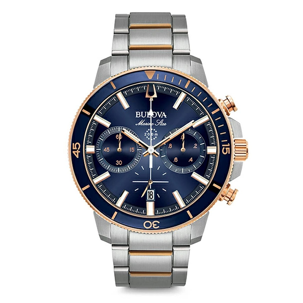 【たっぷりポイントMAX10倍! ショッピングローンMAX60回無金利】【送料無料】【国内正規品】BULOVA(ブローバ)MARINE STAR98B301【時計 腕時計】