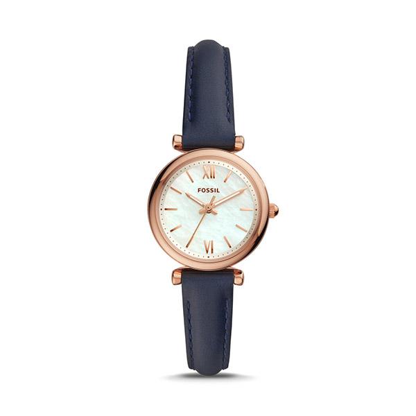 FOSSIL フォッシル CARLIE MINI 三針 ネイビー レザーウォッチ (カーリーミニ) レディース ES4502 腕時計
